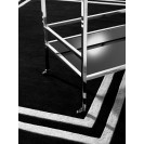 Celeste Black & Off White Carpet - 2 x 3m