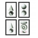 Spherical Projection Set of 4 Prints