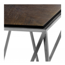 Pentagon Charcoal Oak Veneer Side Table