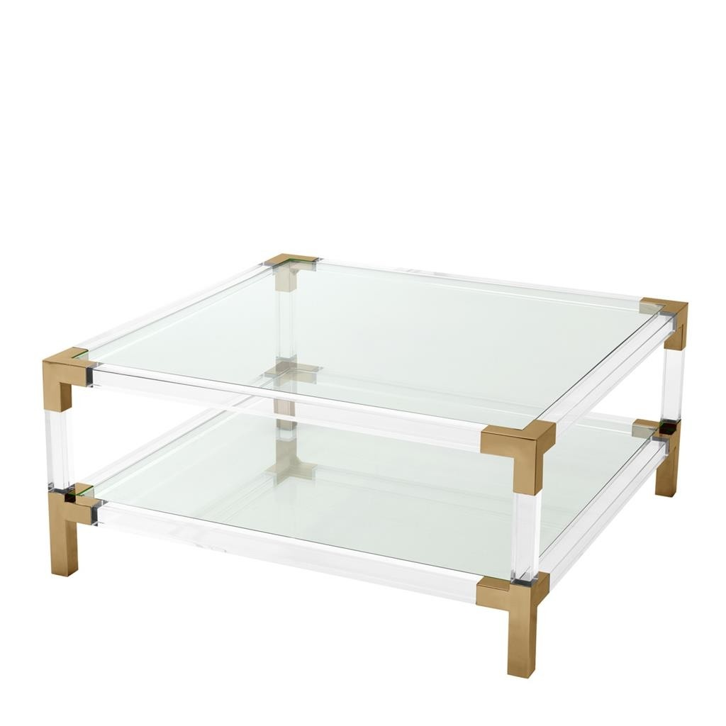 Royalton Acrylic & Brass Coffee Table