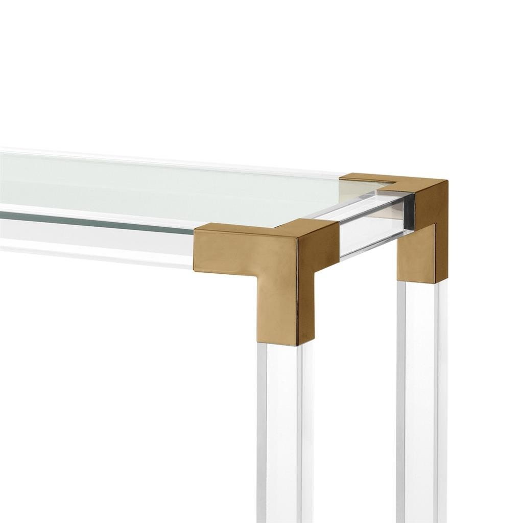 Royalton Acrylic Amp Brass Console Table Shop Now