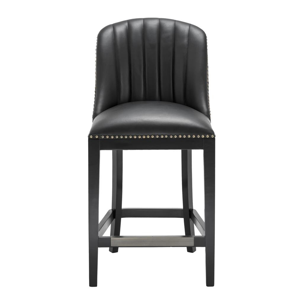 Balmore Black Faux Leather Counter Stool Shop Now