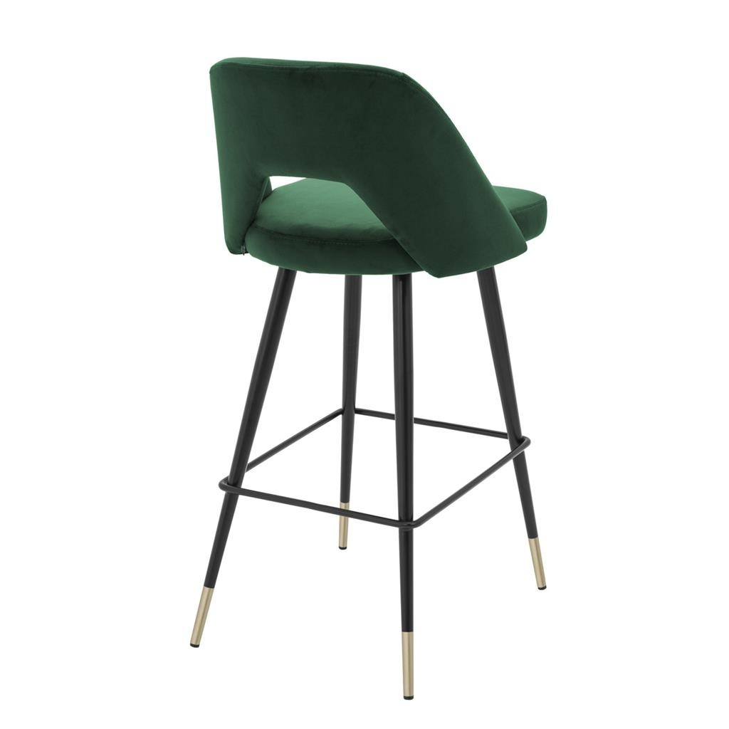 Avorio Roche Green Velvet Bar Stool Shop Now