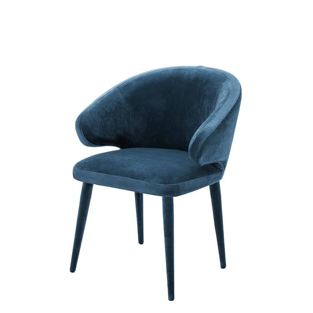 Cardinale Roche Teal Blue Velvet Dining Chair Shop Now