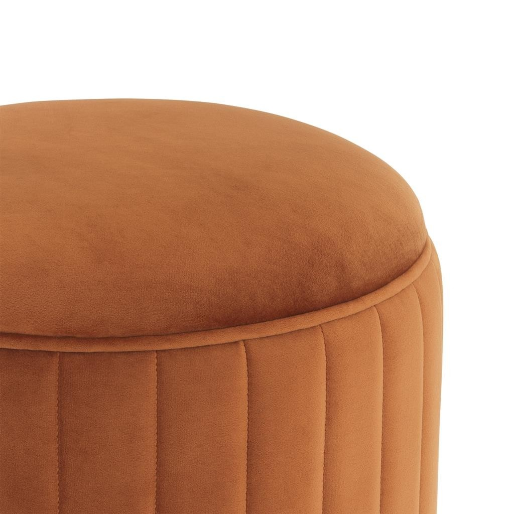 Allegra Roche Orange Velvet Stool Shop Now