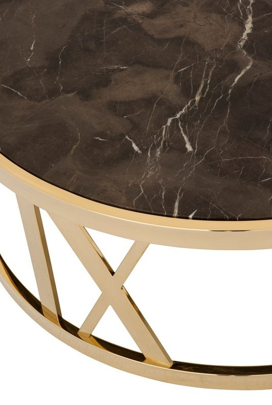 Baccarat Gold Amp Brown Marble Coffee Table Shop Now