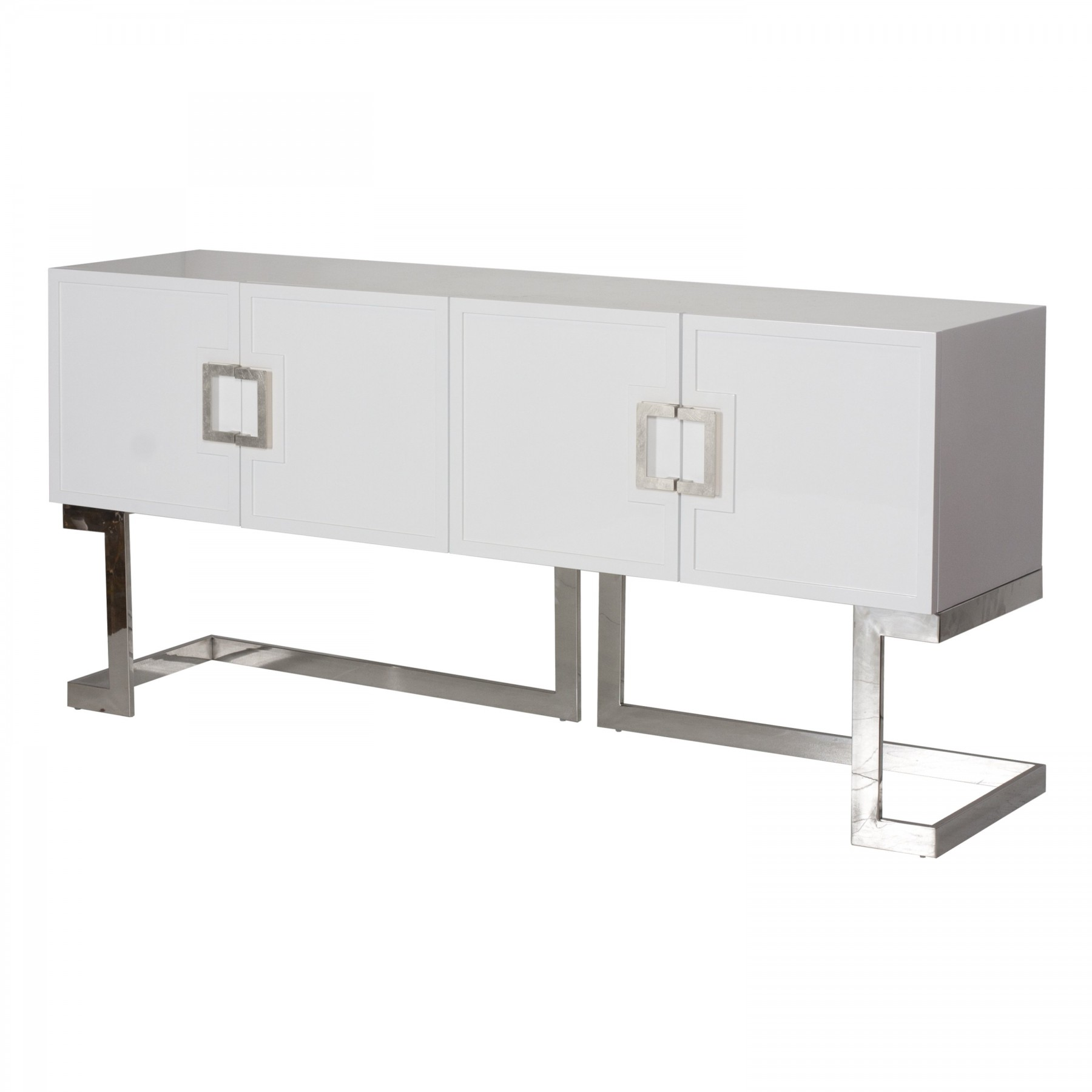Braxton White Amp Stainless Steel Media Console Shop Now
