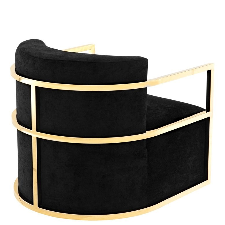 Emilio Black Velvet Chair Shop Now