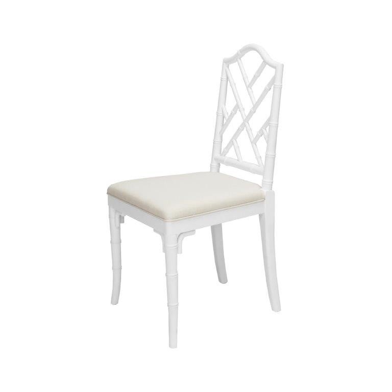 Fairfield Chippendale Bamboo White Dining Chair Shop Now