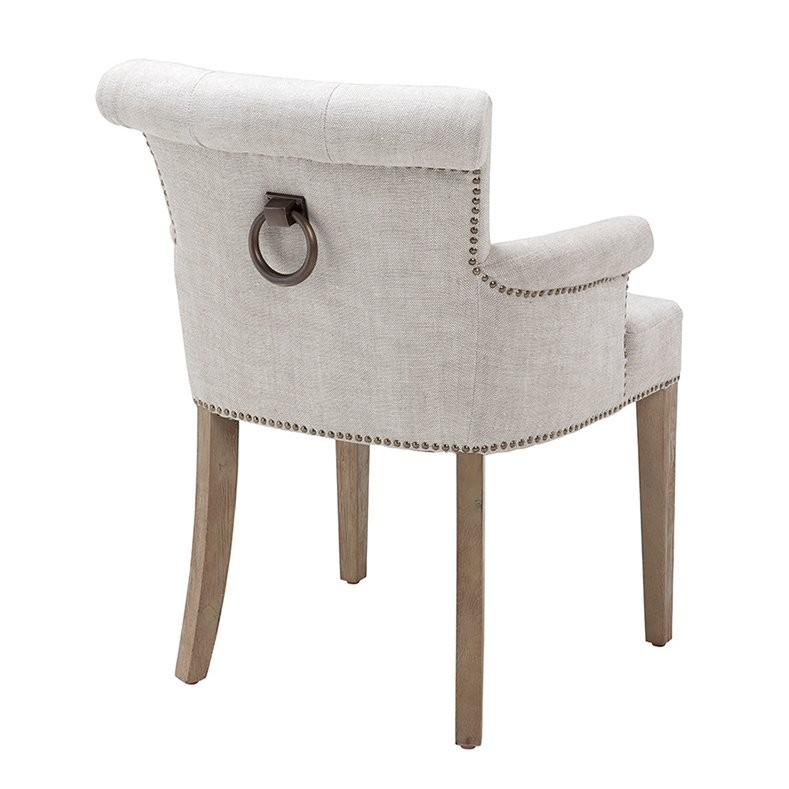 Key Largo Off White Linen Dining Armchair Shop Now