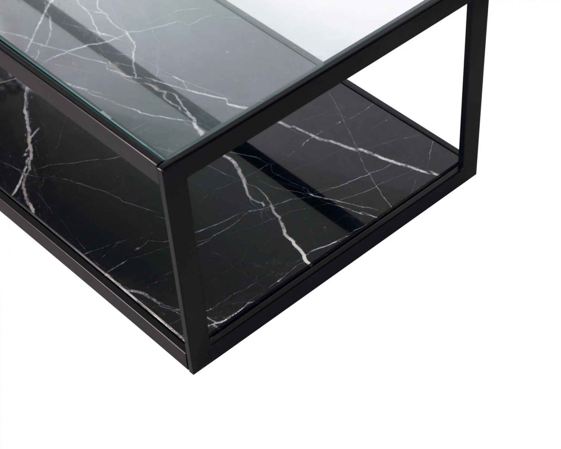 Tamon Rectangle Black Marble Coffee Table Shop Now