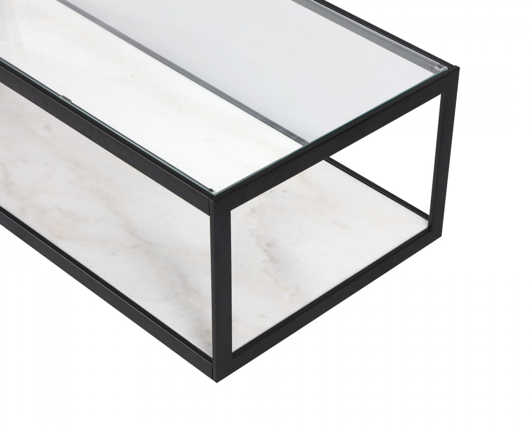 Tamon Rectangle White Marble Coffee Table Shop Now