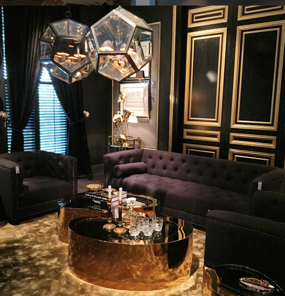 Ex Display Sofa Warehouse >> Gibbons Gold & Black Coffee Table | SHOP NOW
