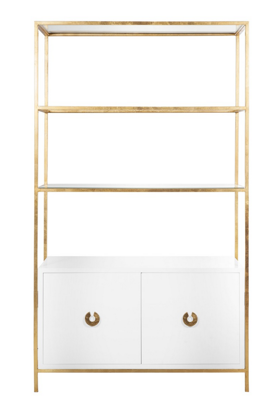 Wyeth White Amp Gold Leaf Etagere Shop Now