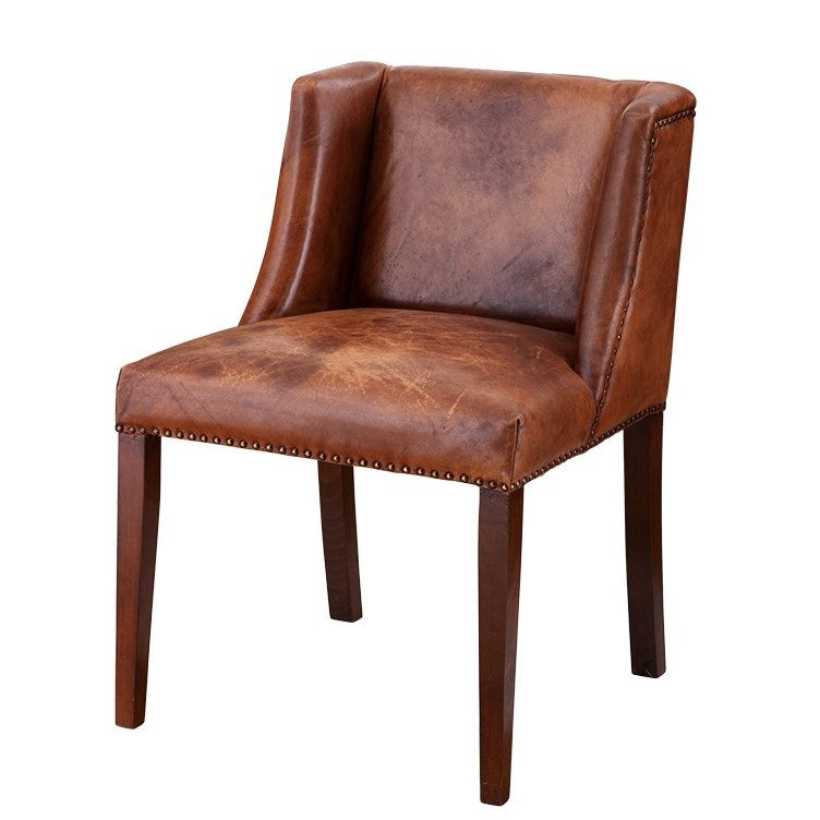 Ex Display Sofa Warehouse >> St. James Tobacco Leather Dining Chair | SHOP NOW