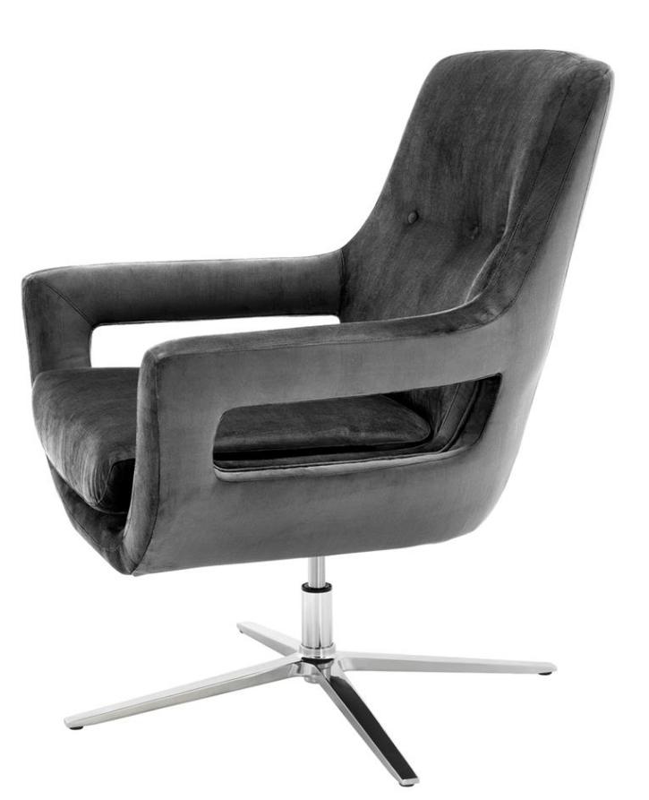 Flavio Granite Grey Swivel Chair Shop Now
