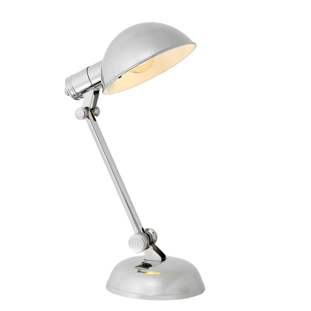 Navy Nickel Desk Lamp