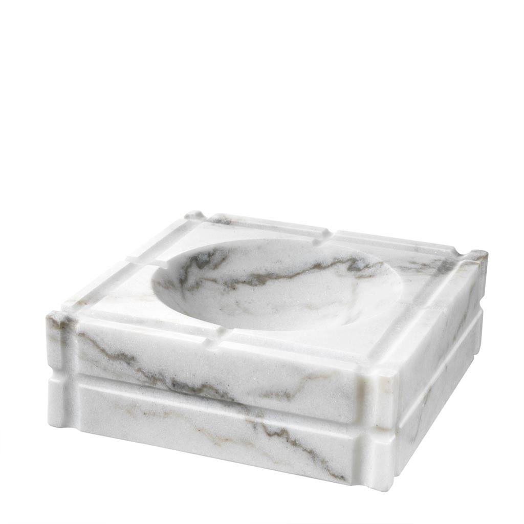 Nestor White Marble Ashtray
