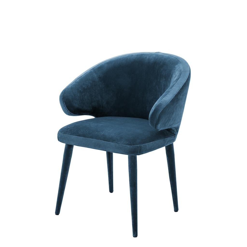 Cardinale Roche Teal Blue Velvet Dining Chair Shop Now