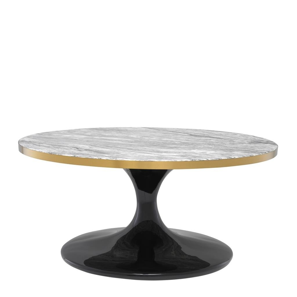 Faux Marble Round Coffee Table: Parme Round Grey Faux Marble Coffee Table