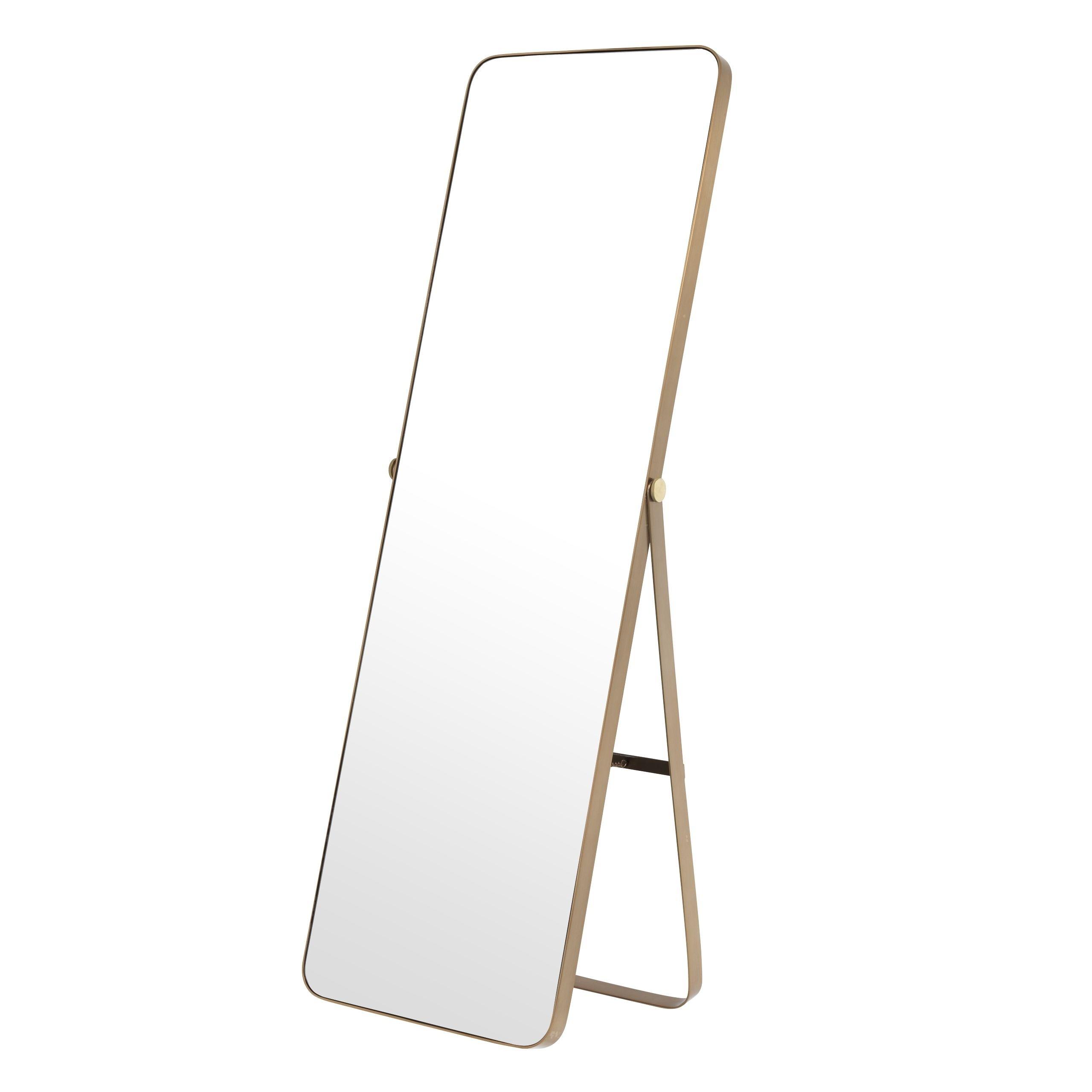 Hardwick Brushed Brass Mirror