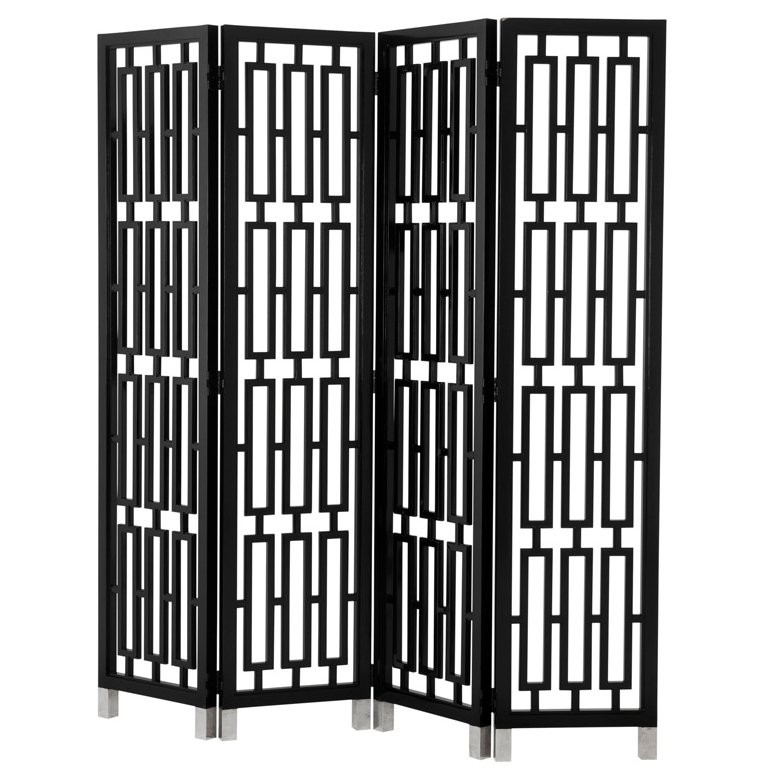 Geometric Black Folding Screen Shop Now