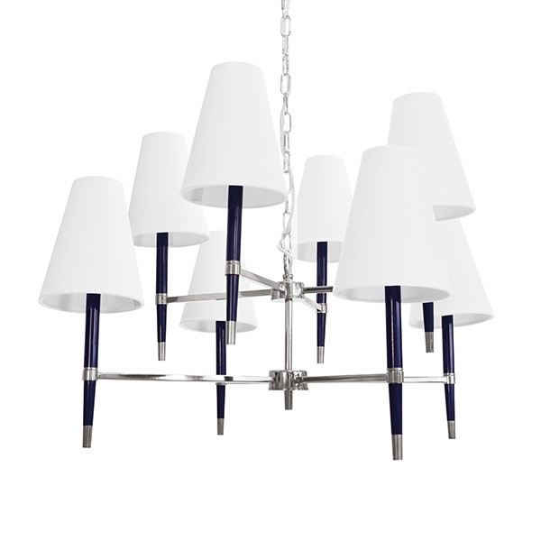 Hines Nickel & Navy Chandelier