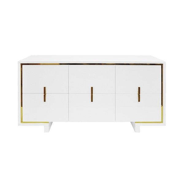 Holden White Lacquer Chest