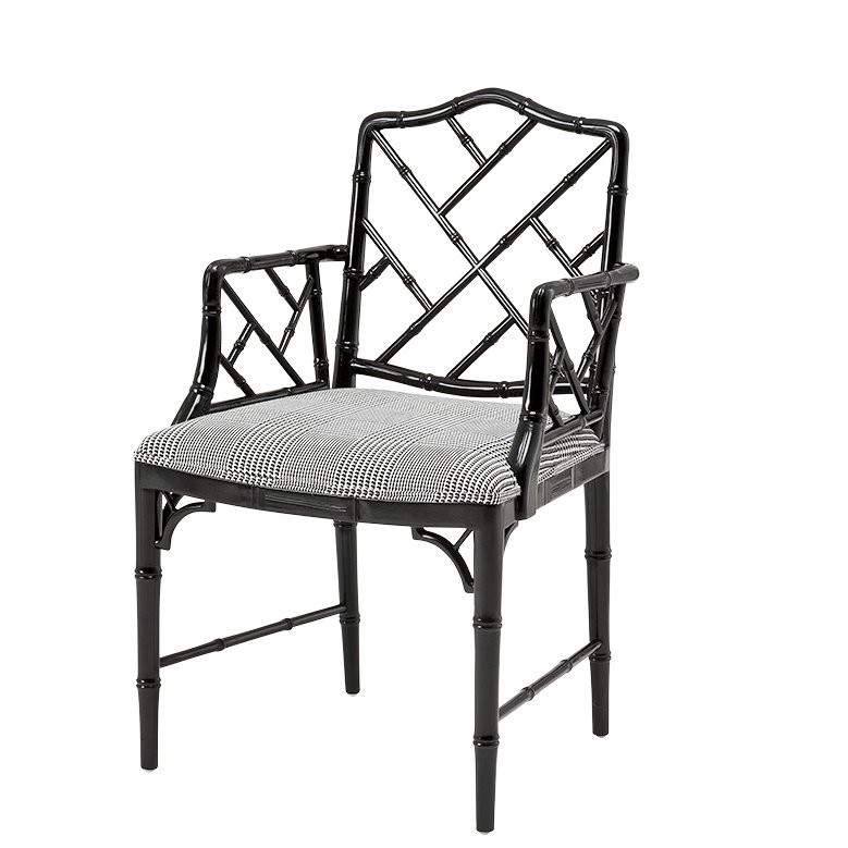 Black And White Dining Chair: Infinity Dixon Black & White Dining Armchair