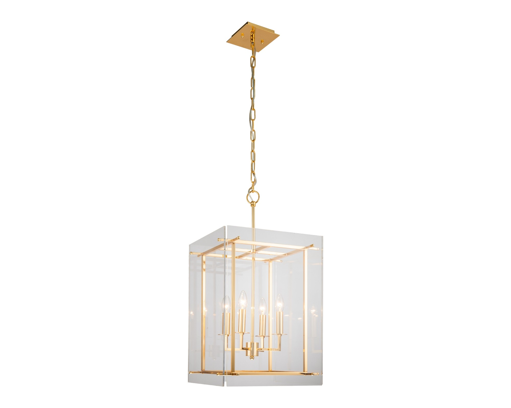 Cooper Polished Brass Lantern