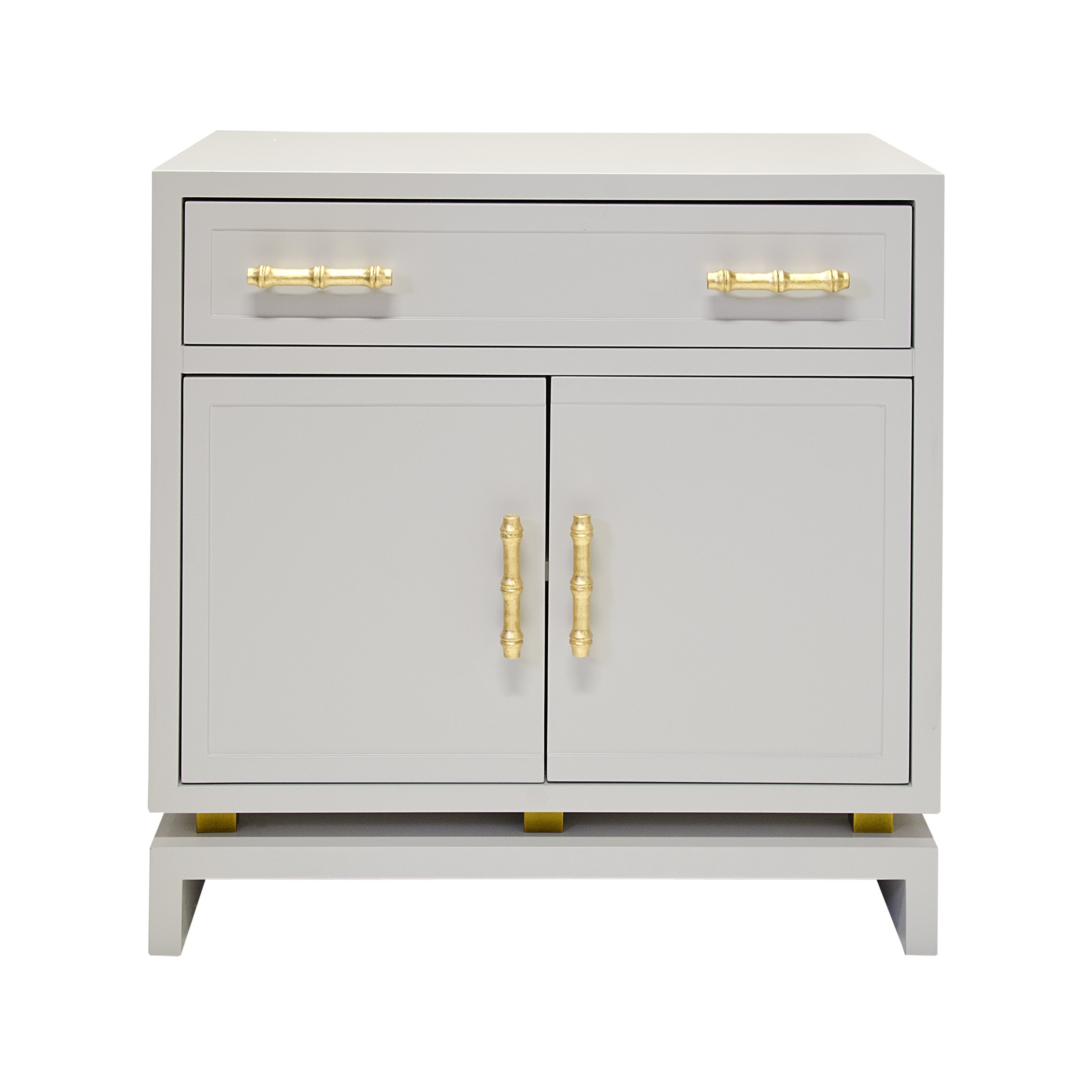 Marcus Grey Lacquer Amp Gold Leaf Bedside Table Shop Now