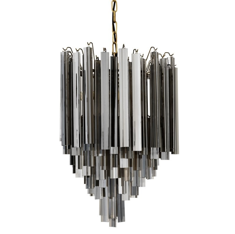 Salerno smoked glass chandelier shop now aloadofball Images