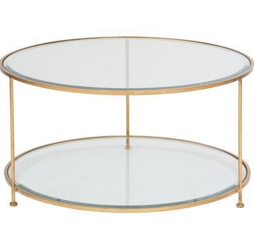 Beau Rollo Round Gold Leaf Coffee Table
