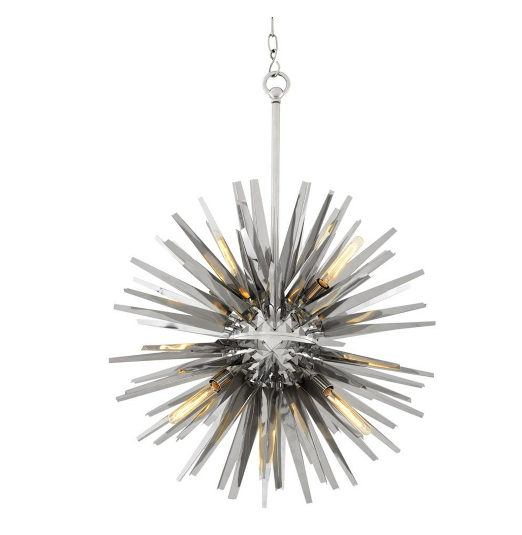 Gregorian large stainless steel chandelier mozeypictures Gallery