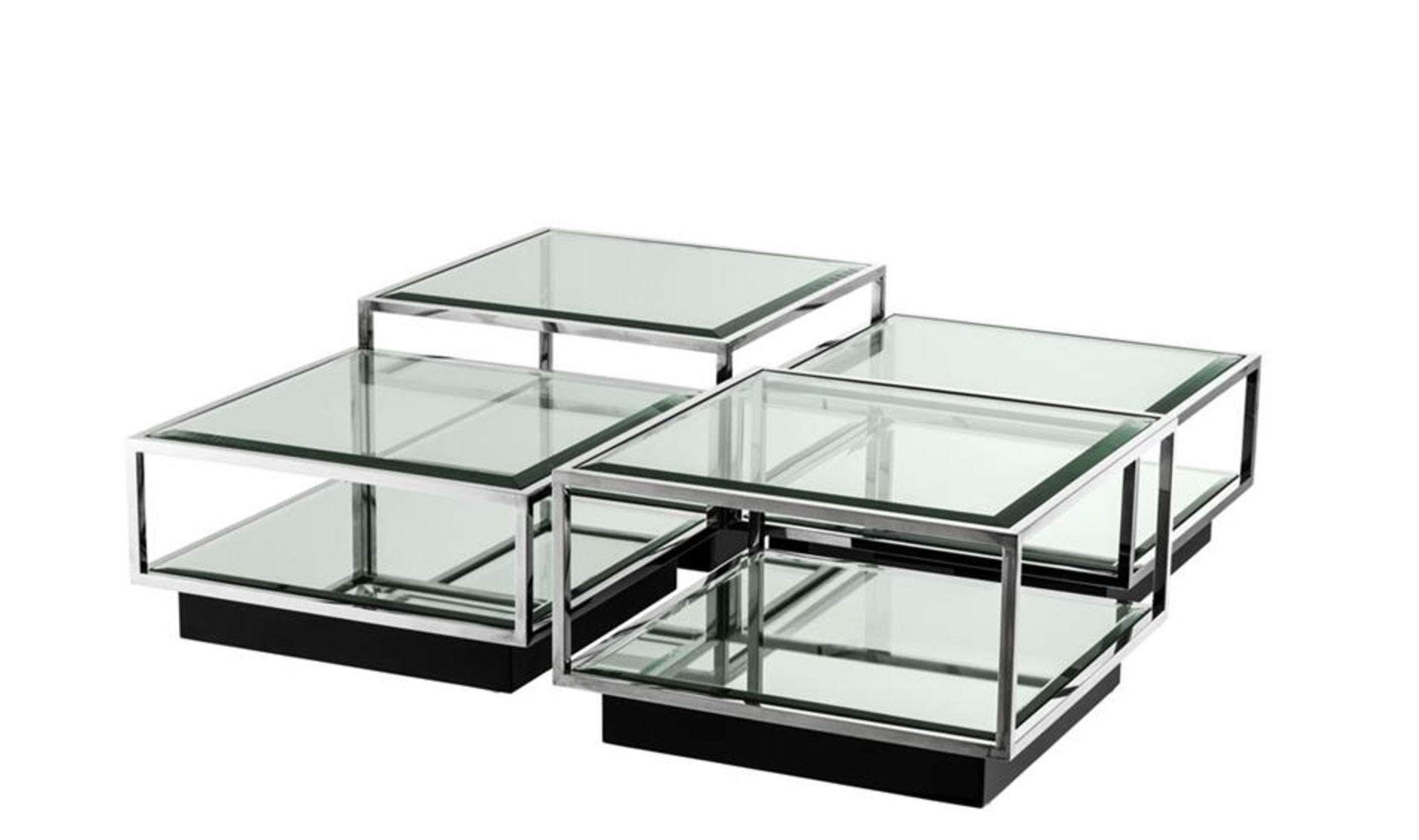 Tortona Stainless Steel Coffee Table Set Of 4