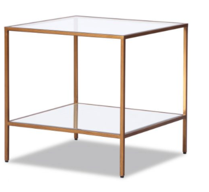 Oliver Antique Gold Side Table (Seconds)