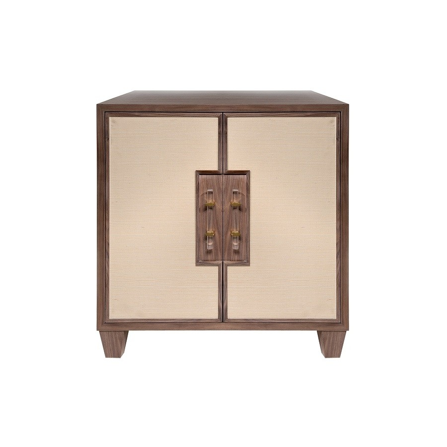 STRATTON GRASSCLOTH BRONZE CABINET