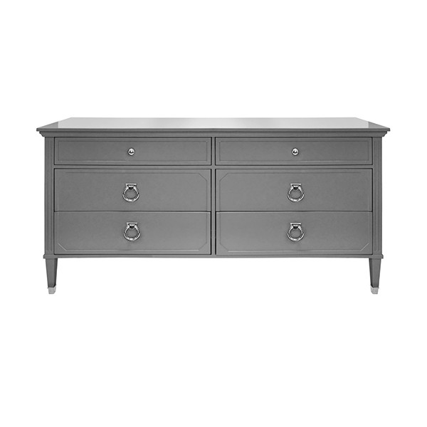 Vincent Grey Lacquer & Nickel Chest