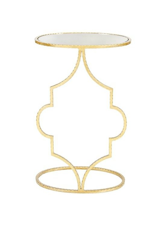 Worlds Away Willa Gold Leaf Side Table