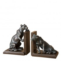 LIONESS BOOKEND SET OF 2