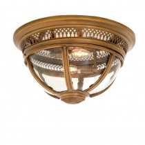 CEILING LAMP RESI ANTIQUE BRASS