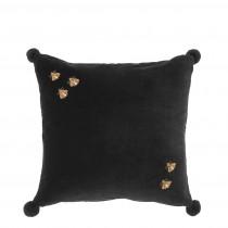 Salgado Black Velvet Pillow - 50 x 50cm