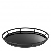 Gaia Black Round Tray