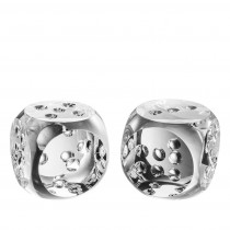 Dice Tradizione Crystal Desk Accessory Set of 2