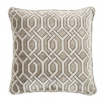 Trellis Grey Velvet Pillow