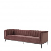 Eichholtz Raffles Roche Faded Rose Velvet Sofa