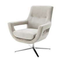 EICHHOLTZ FLAVIO SWIVEL CHAIR PEBBLE GREY