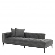 CESARE LOUNGE SOFA GRANITE GREY LEFT
