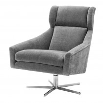 Eichholtz Nara Clarck Grey Swivel Chair