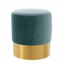 Eichholtz Pall Mall Cameron Deep Turquoise Stool